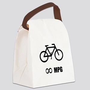 Bicycle MPG Canvas Lunch Bag