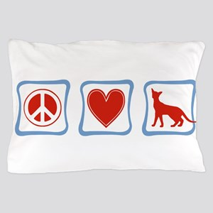 Peace Love Siamese Cats squares Pillow Case