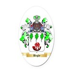 Begly Oval Car Magnet