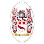 Begley Sticker (Oval 50 pk)