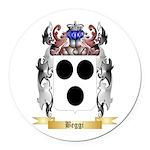 Beggi Round Car Magnet
