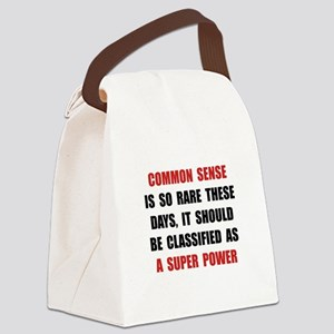 Common Sense Canvas Lunch Bag