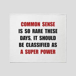 Common Sense Throw Blanket