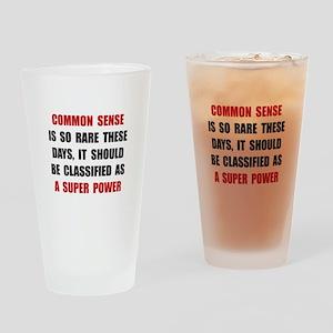 Common Sense Drinking Glass