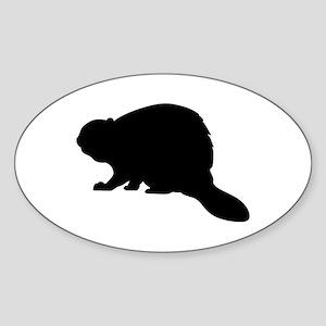 Beaver Sticker (Oval)