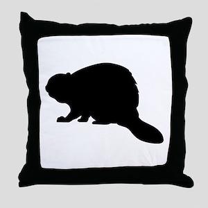 Beaver Throw Pillow