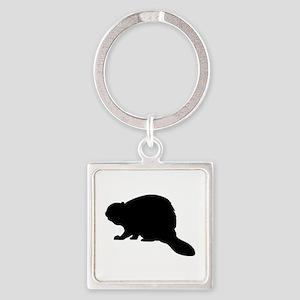 Beaver Square Keychain