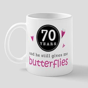 70th Anniversary Butterflies Mug