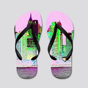 NYC SKYLINE Flip Flops