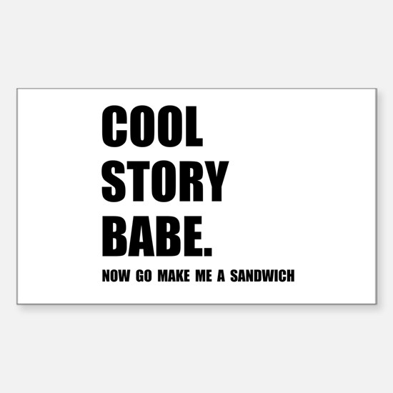 Cool Story Sandwich Decal