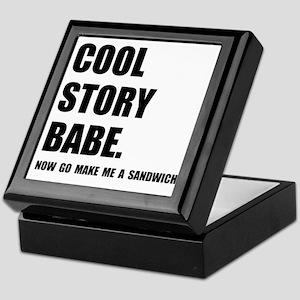 Cool Story Sandwich Keepsake Box