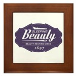 Sleeping Beauty Since 1697 Framed Tile