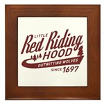 Little Red Riding Hood Since 1697 Framed Tile