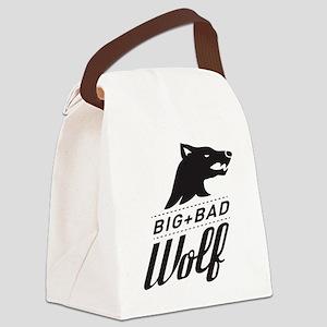B&W Big Bad Wolf Canvas Lunch Bag