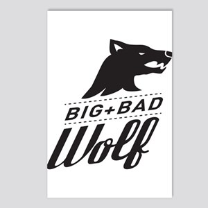 B&W Big Bad Wolf Postcards (Package of 8)