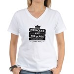 Princess & the Pea Since 1835 Women's V-Neck T-Shi