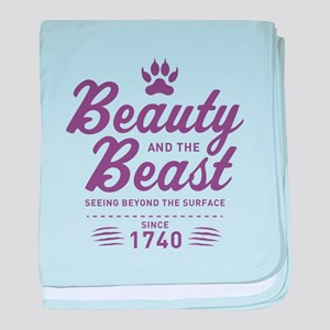 Beauty and the Beast Since 1740 baby blanket