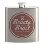 Beauty and the Beast Since 1740 Flask