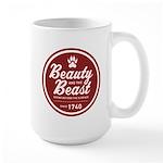 Beauty and the Beast Since 1740 Large Mug