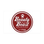Beauty and the Beast Since 1740 35x21 Wall Decal