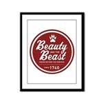 Beauty and the Beast Since 1740 Framed Panel Print