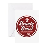 Beauty and the Beast Since 1740 Greeting Cards (Pk