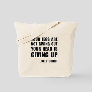Keep Going Runner Tote Bag