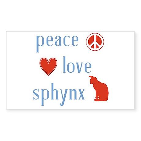 Sphynx Cat Sticker (Rectangle)