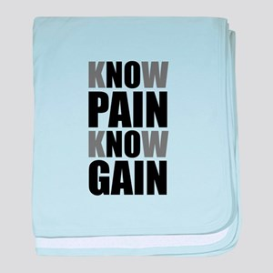 Know Pain Gain baby blanket