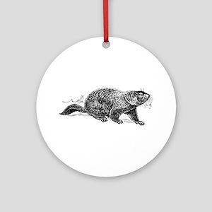 Ground Hog Day Ornament (Round)