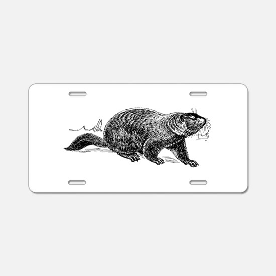 Ground Hog Day Aluminum License Plate