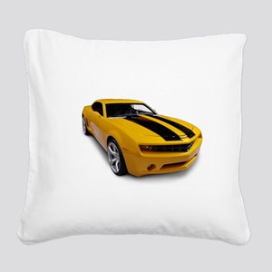 Yellowmusclecar Square Canvas Pillow