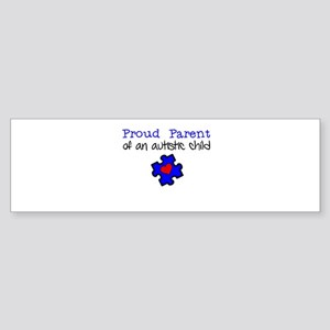 Proud Parent of an Autistic child Sticker (Bumper)