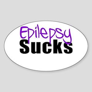Epilepsy Sucks Sticker (Oval)