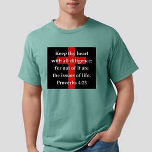 Proverbs 4-23 Mens Comfort Colors Shirt