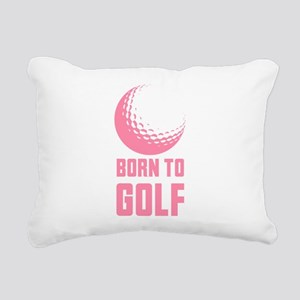 Born to Golf Pink Rectangular Canvas Pillow