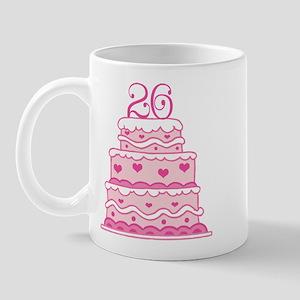 26th Anniversary Cake Mug
