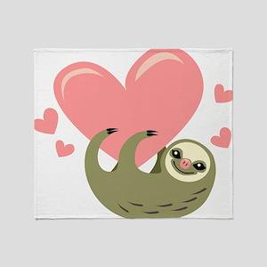 Sloth 3 Throw Blanket