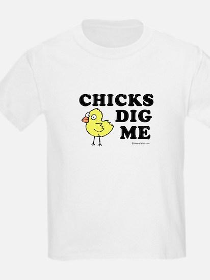 Chicks dig me -  Kids T-Shirt
