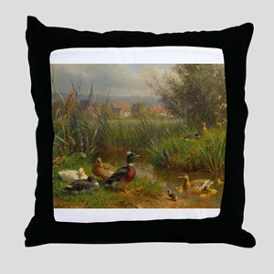 Little Swimmers Throw Pillow