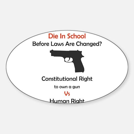 Stop School Shootings Rectangle Decal