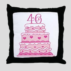 46th Anniversary Cake Throw Pillow