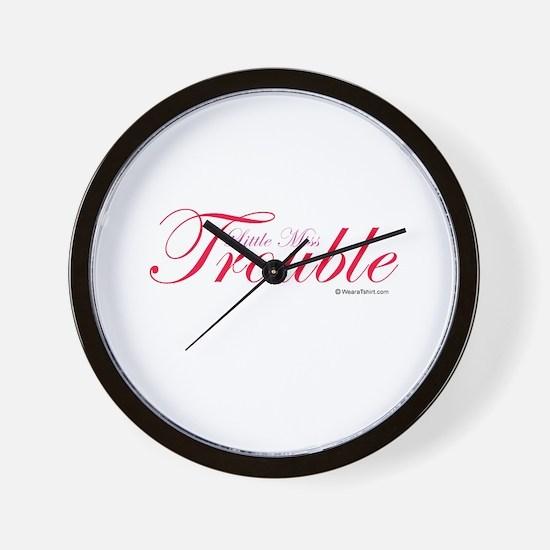 Little Miss Trouble Wall Clock