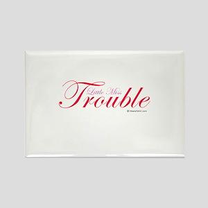 Little Miss Trouble Rectangle Magnet