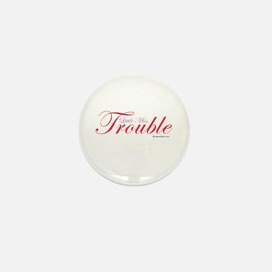 Little Miss Trouble Mini Button