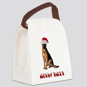 German Shepherd Christmas Canvas Lunch Bag