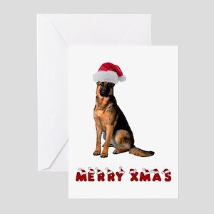 German shepherd christmas greeting cards cafepress german shepherd christmas greeting cards pk of 10 m4hsunfo