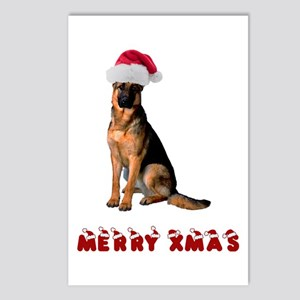 German Shepherd Christmas Postcards (Package of 8)