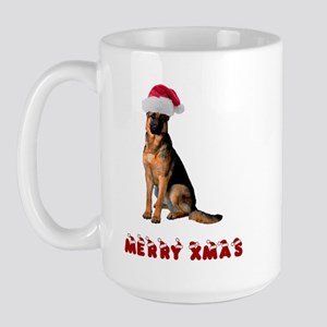 German Shepherd Christmas Large Mug