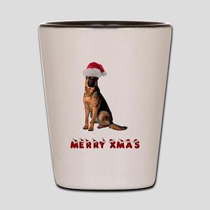 German Shepherd Christmas Shot Glass